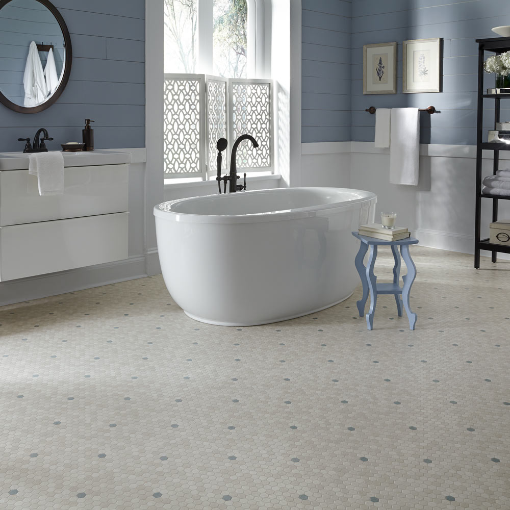Benefits of vinyl floor tiles for bathroom