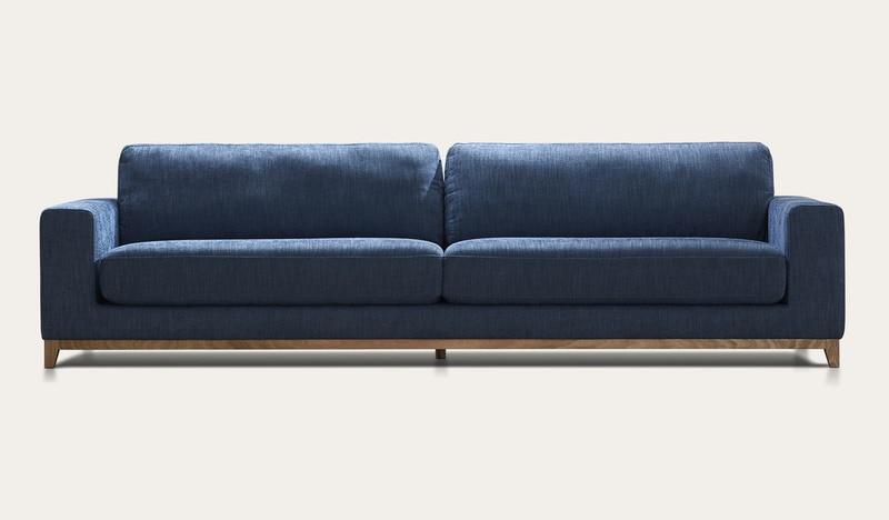 Frankfurt | modern blue 4 seat sofa