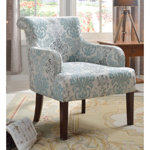Shop Best Master Furniture Teal and Light Blue Accent Chair - Free