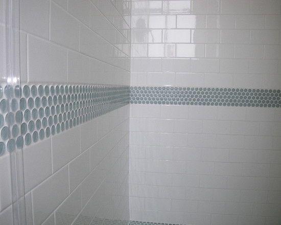 black bathroom tile accent ideas - Google Search | Bathroom remodel
