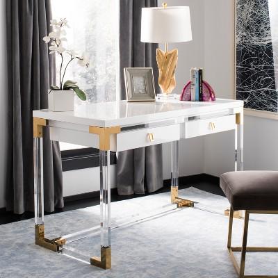 Dariela Acrylic Desk White - Safavieh : Target