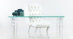 Clear Plastic/Acrylic Desks You'll Love | Wayfair