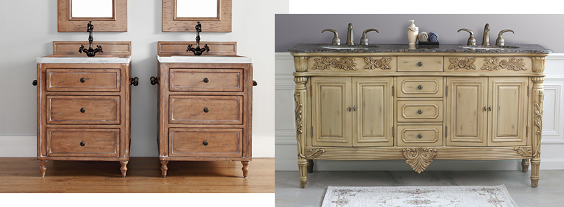 Antique Bathroom Vanity for Classical   Bathroom Setting