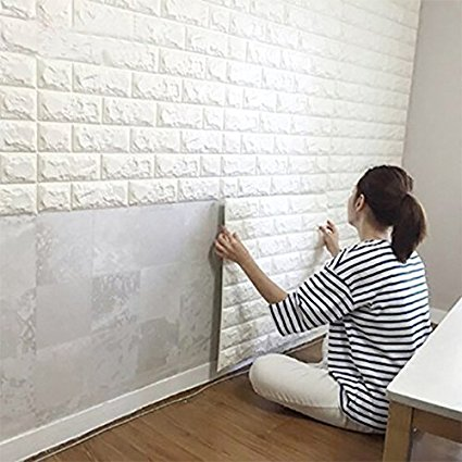 Amazon.com: Wall Stickers 10PCS 3D Brick, PE Foam Self-Adhesive