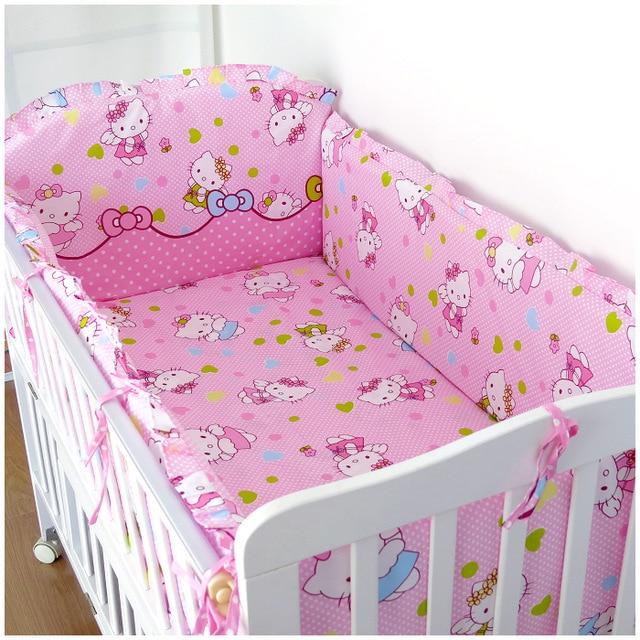 6Pcs Cartoon cot bumper baby bed bumper Baby cot set Crib Bedding