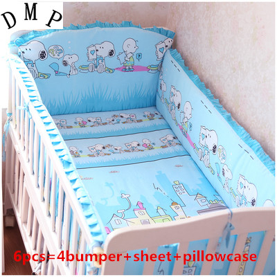 Promotion! 6/7PCS Cot Bedding On Sale Baby Bedding Set With The