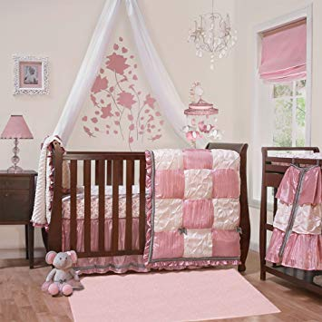 Amazon.com : Bella 6 Piece Baby Crib Bedding Set by The Peanut Shell