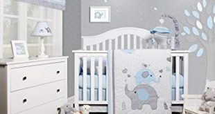 Amazon.com : GEENNY OptimaBaby Blue Grey Elephant 6 Piece Baby