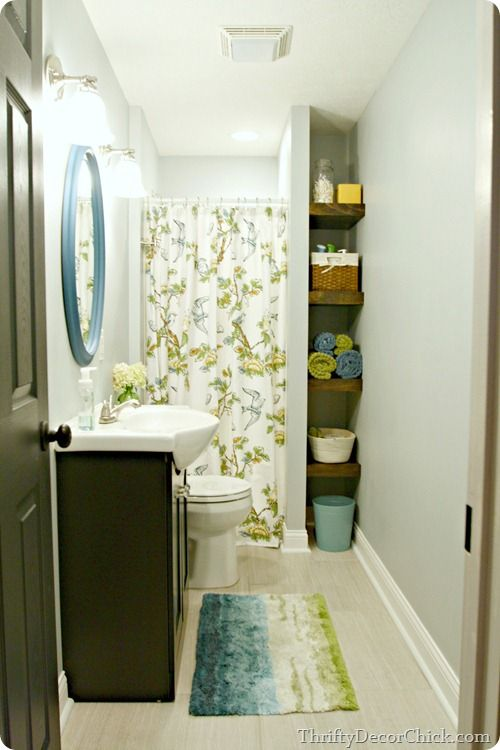 bright basement bathroom  LOVE this. | thrifty decor chick