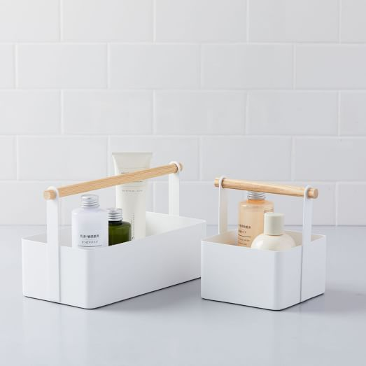 Wood Handle Bathroom Caddy | west elm