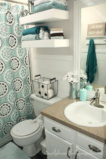 Bathroom Makeover on a Budget | rooms | Bathroom, Small apartment