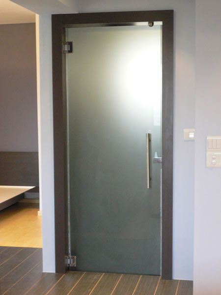 framed frosted glass dooris this kind of what it would look like