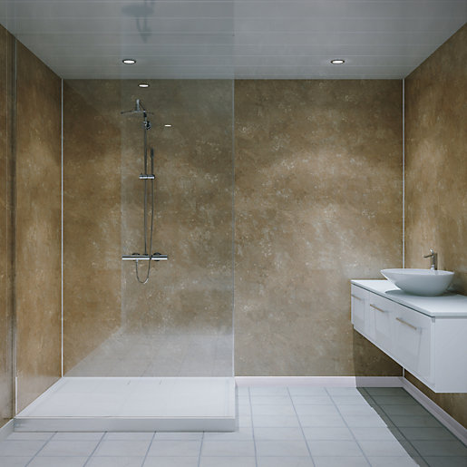Multipanel Classic Bathroom Panels Unlipped 2400 X 598mm Natural