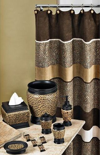 Cheetah bathroom set u2013 Beautiful animal print for bathroom in 2019