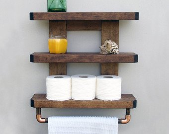 Bathroom shelf | Etsy