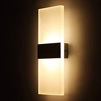 Amazon.com: Geekercity Modern Acrylic 6W LED Bedroom Wall Lamps