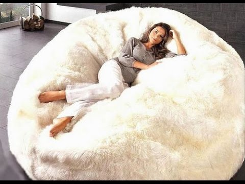 Large Bean Bag Chairs for Adults - YouTube
