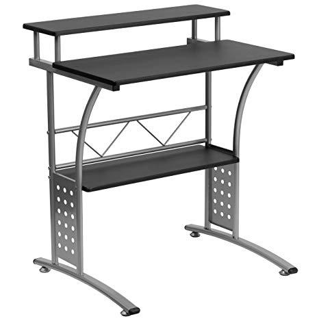 Amazon.com: Flash Furniture Clifton Black Computer Desk: Kitchen