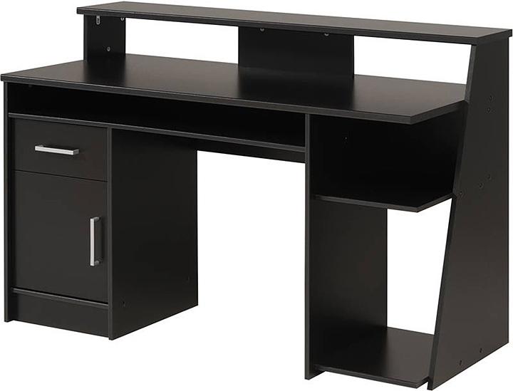 black wood computer desk black computer desk uk - Furnish Ideas