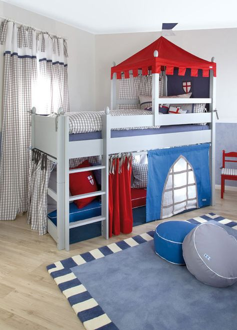 Boys Castle Bed |  Boys Bed/ Knight's Castle Cabin Bed / Designer