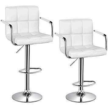 Popamazing Swivel Bar Kitchen Breakfast Bar Stools Chair for