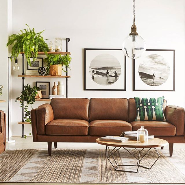 10 Beautiful Brown Leather Sofas | For the Home | Living room