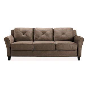 Saddle Brown Sofa | Wayfair