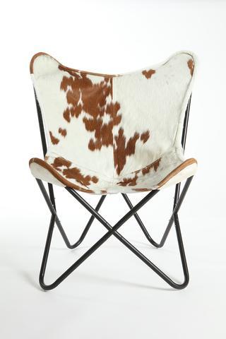 Brown & White Cowhide Butterfly Chair u2013 Gaucho Cowhide Rugs