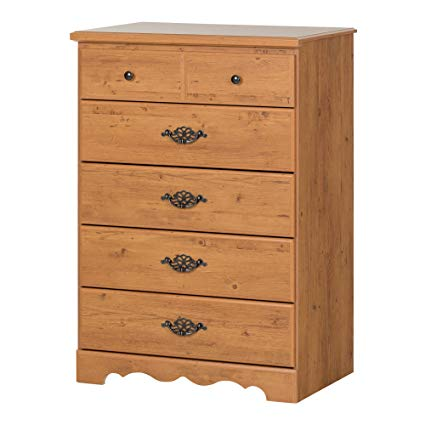Amazon.com: South Shore Prairie 5-Drawer Dresser, Country Pine with