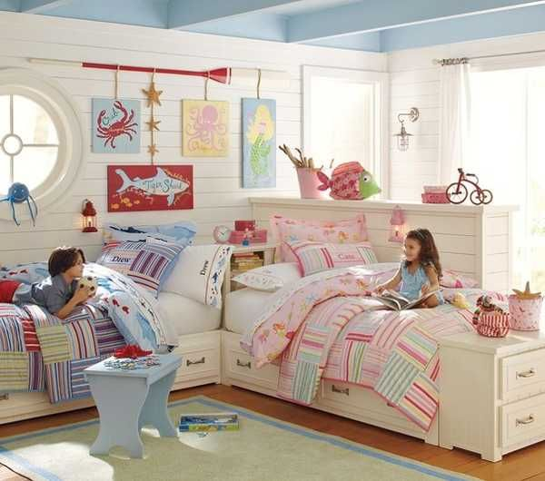 30 Kids Room Design Ideas with Functional Two Children Bedroom Decor