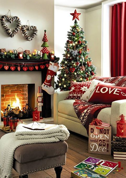 Home Decoration: How to Make a Christmas Living Room | Christmas