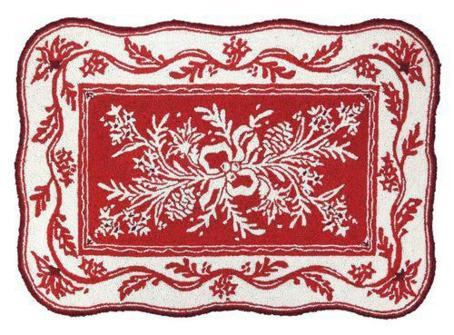 Christmas Rugs - Holiday Red Sally Eckman Roberts - Culturedliving.com