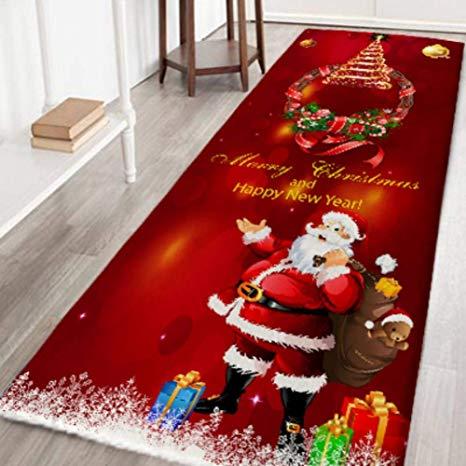 Amazon.com: zhangwei Christmas Rugs, Non Slip Carpet Door Mat