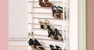 Amazon.com: Over The Closet Shoe Storage Rack. Can Also Be Wall