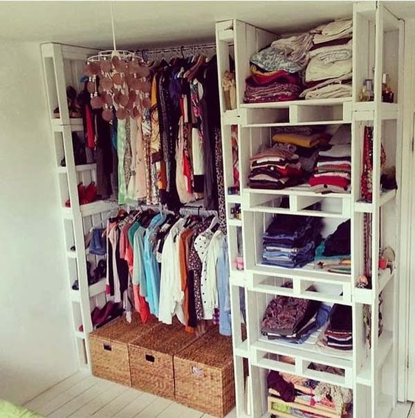 Clothes Storage Solved by 19 Ingenious Low-Cost DIY Closets Swiftly