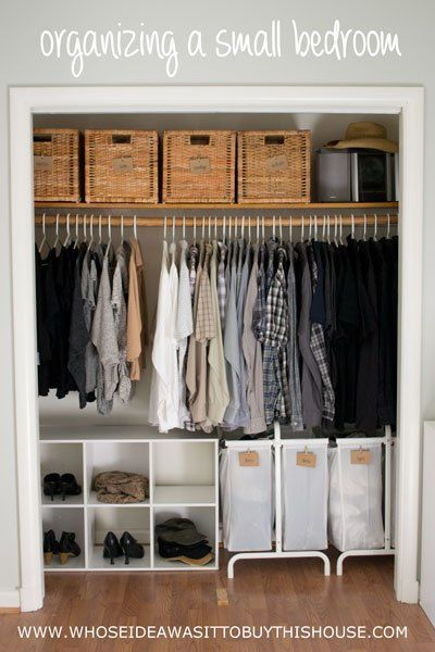 How We Organized Our Small Bedroom | Bed room ideas | Pinterest