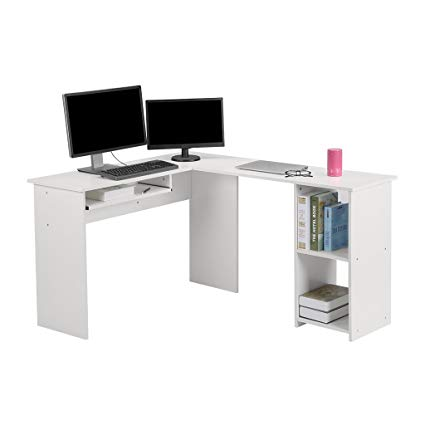 Amazon.com: LANGRIA L-Shaped Computer Corner Desk, PC Latop Study