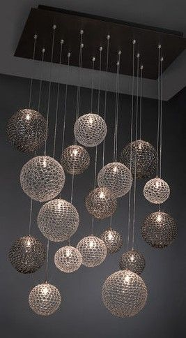 Modern chandeliercool idea for a basement bar! | Dream Home in