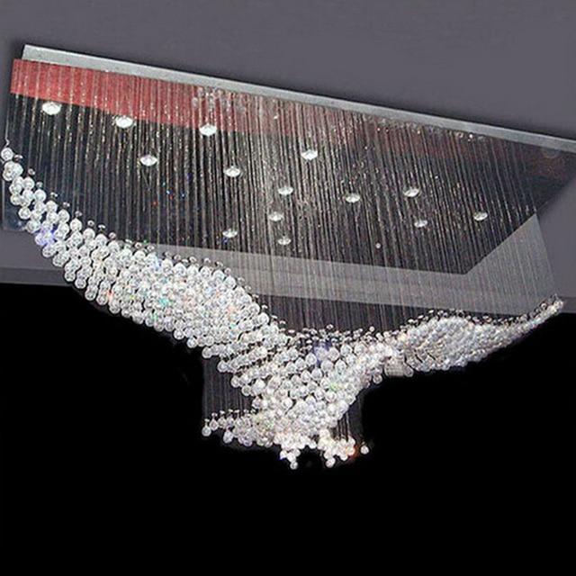 Large size bird design Modern LED crystal chandelier light large