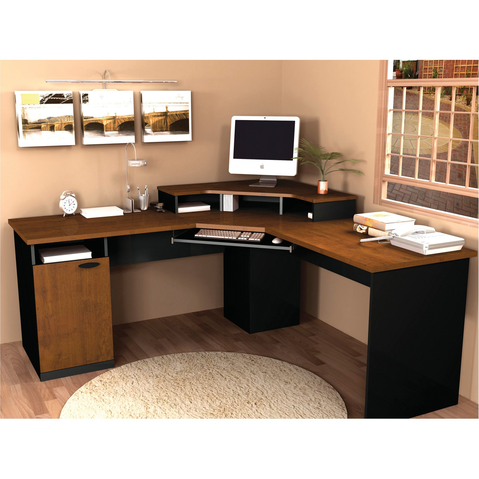 Bestar Hampton Corner Computer Desk - Walmart.com