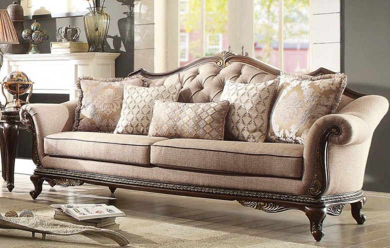 Homelegance Bonaventure Park Cream Sofa - Bonaventure Collection: 4