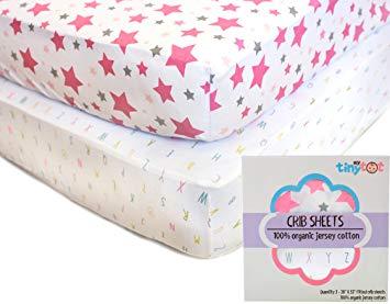 Amazon.com : Best Organic Crib Sheets for Baby Girls, 2 Adorable