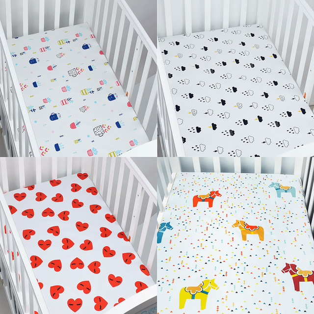 100% Cotton Percale Fitted Portable/Mini Crib Sheet Bed Sheet Fitted