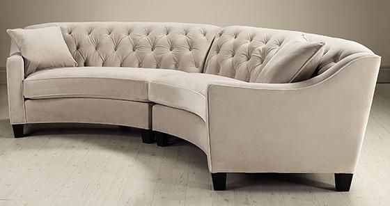 Riemann Curved Tufted Sectional - Sofas And Loveseats - Living Room
