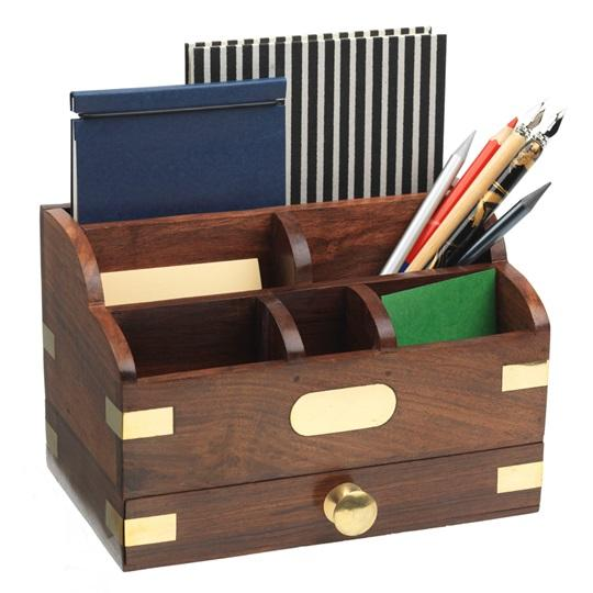 Wooden Desk Tidy | Home & Office | Royal Museums Greenwich Shop