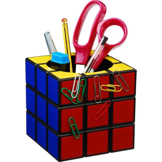 Free Shipping Rubik's Cube Desk Tidy Retro Cube Magnetic Desk Tidy