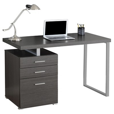 Computer Desk With Drawers - Gray - EveryRoom : Target