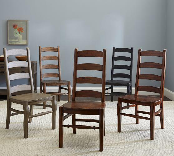 Wynn Ladderback Dining Chair | Pottery Barn
