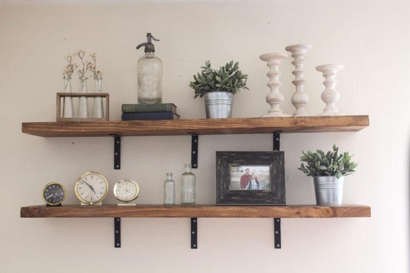 Affordable DIY Industrial Shelves - The Belmont Ranch