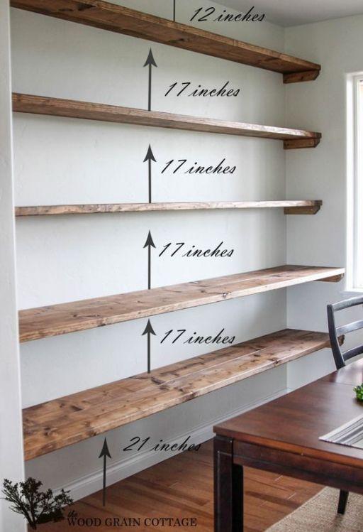 44 Impressive DIY Shelves For Storage & Style | home | Pinterest